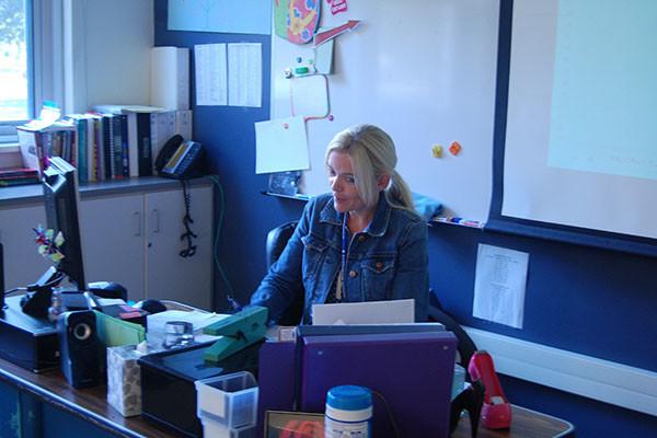 Sometimes Bulldog pride makes Ms. Drumm happy!