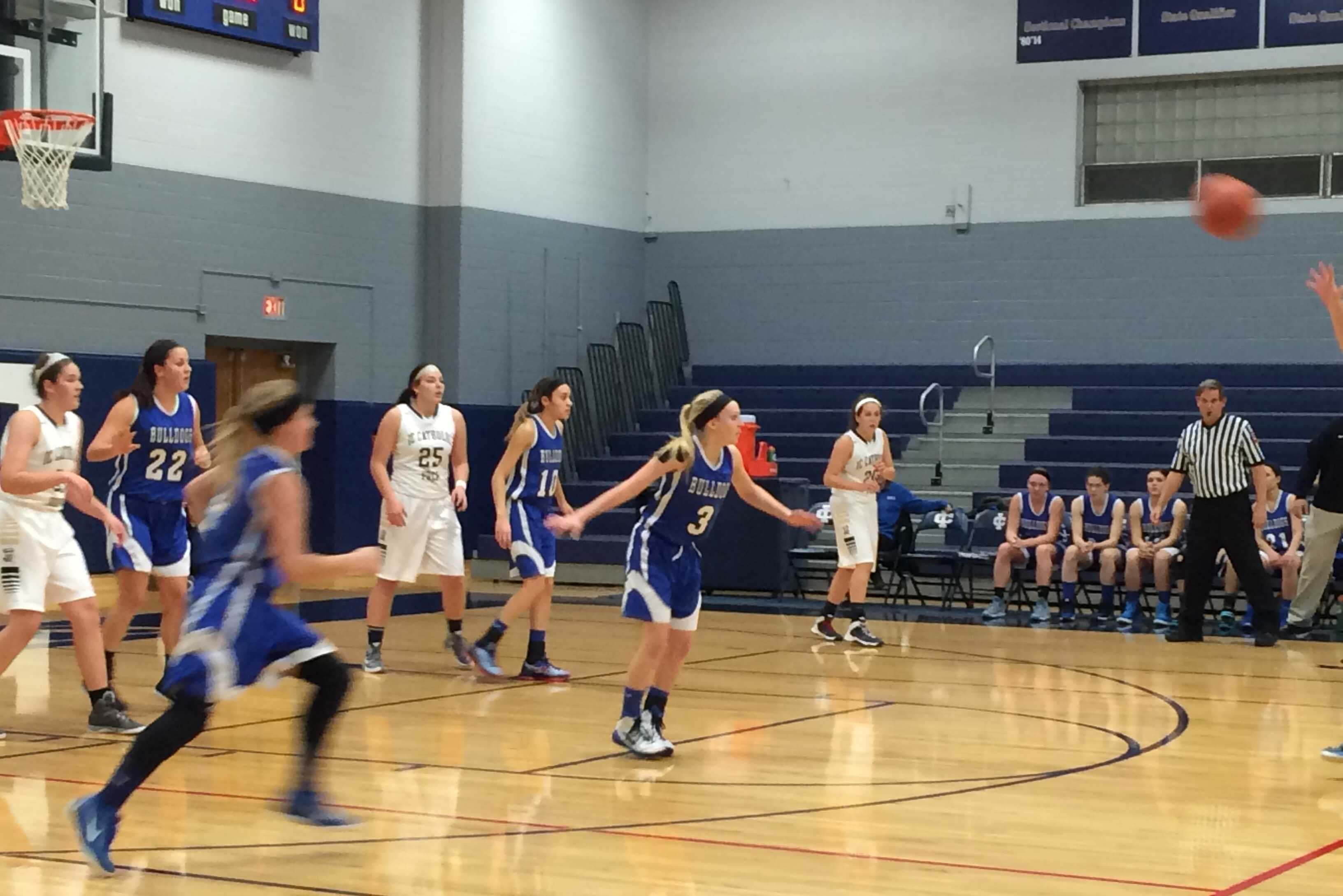 RB girls basketball plays at ICCP.