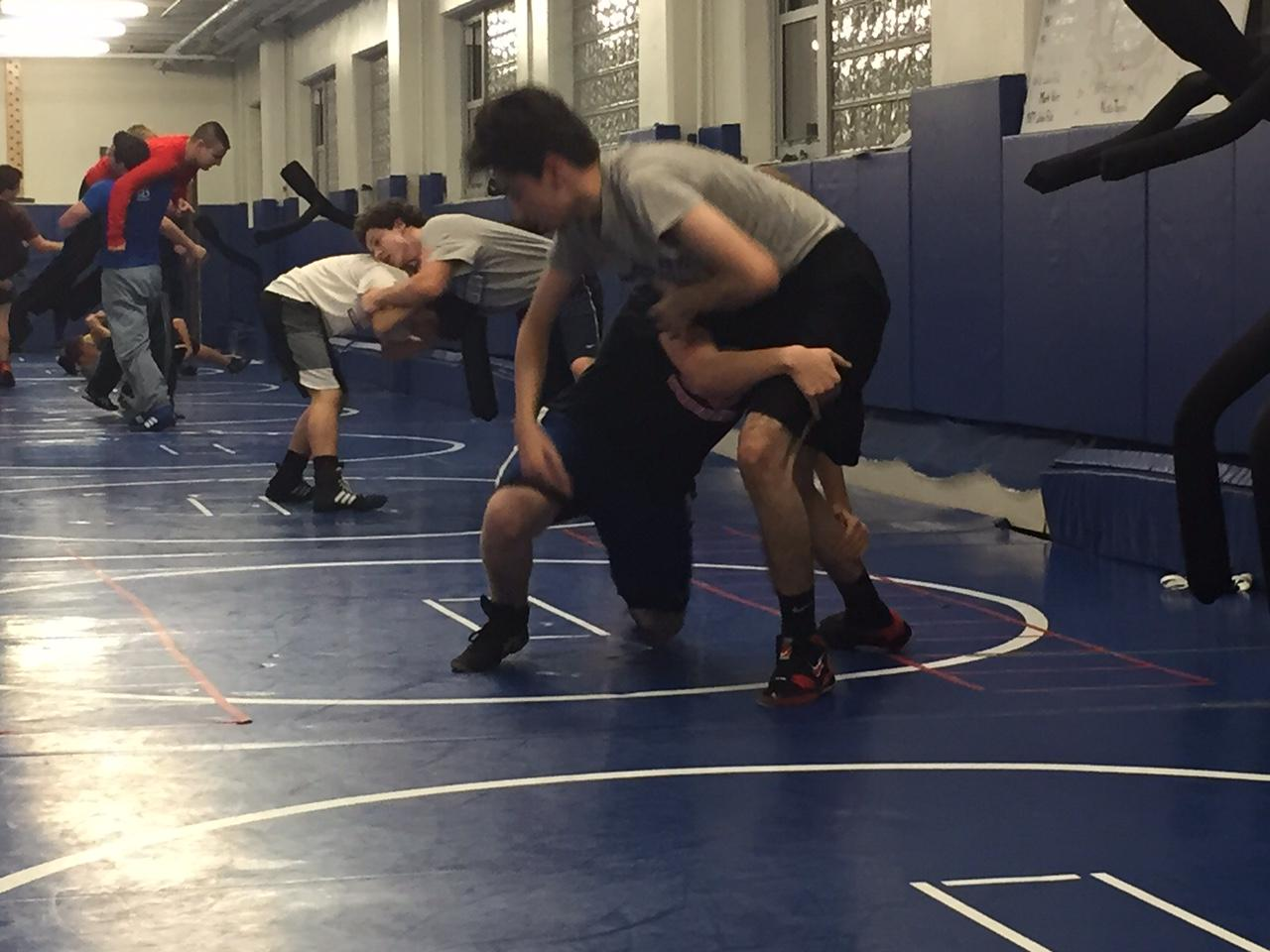 RB boys wrestling practice.