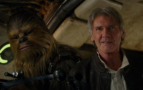 Peter Mayhew and Harrison Ford in