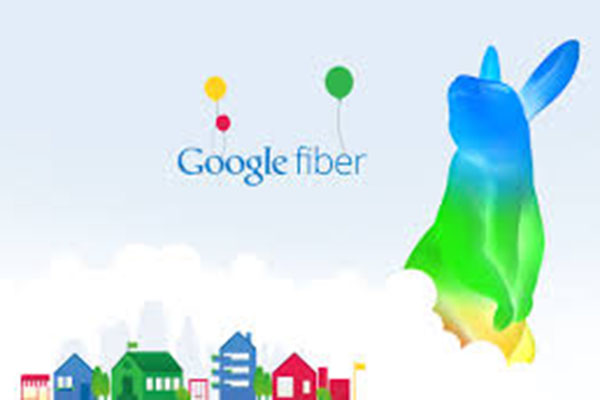 This is the logo of Google Fiber, a colorful and happy bunny.