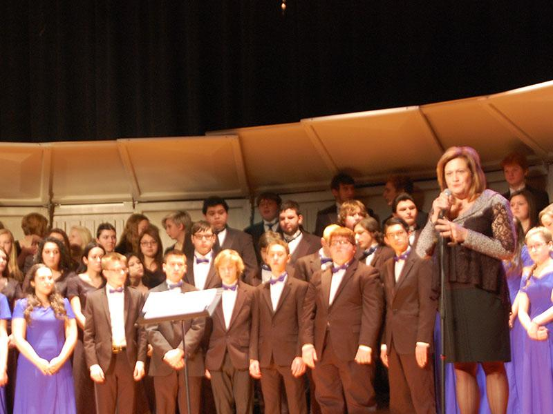 An image from the Winter Choir Concert.