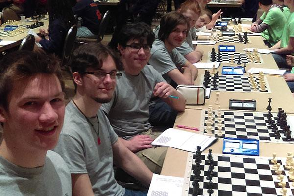 Chess Team poses for a quick picture at State.