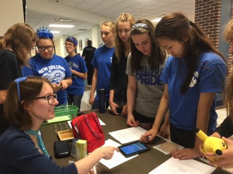 Students taking an interest into Girls Who Code Club.