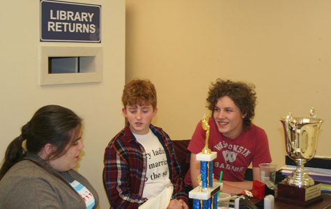 Scholastic Bowl at their table