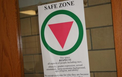 One of the safe zone signs that are around RB