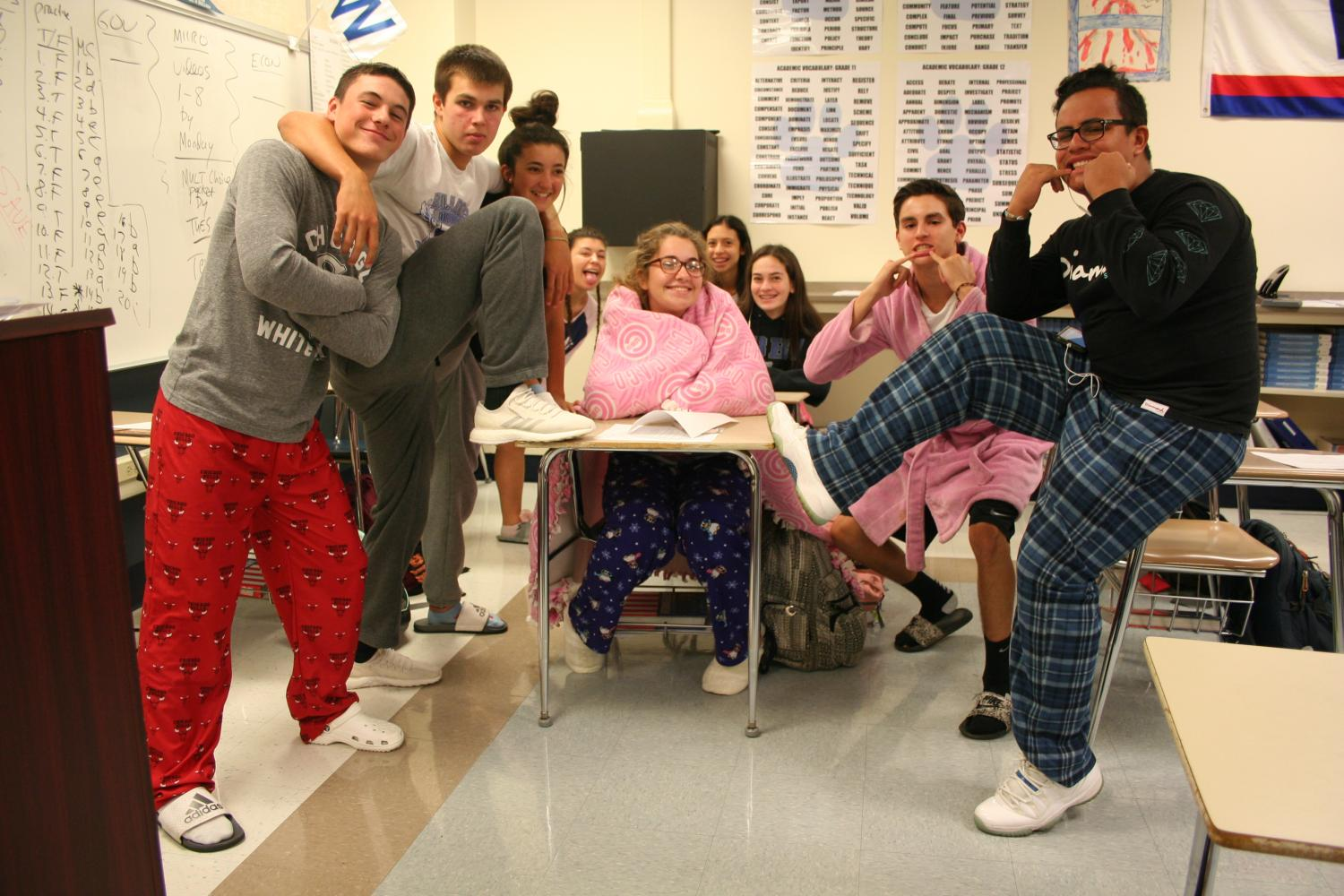 Photo recap: Spirit Week Pajama Day