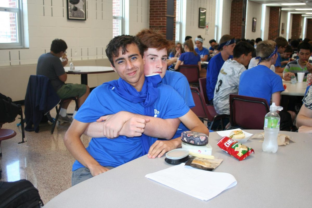 Bulldogs dress up for Crazy Blue and White Day