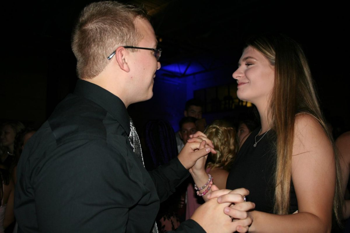 Students attend the Homecoming Dance on Saturday, September 26, 2017, in the Field House at RBHS.