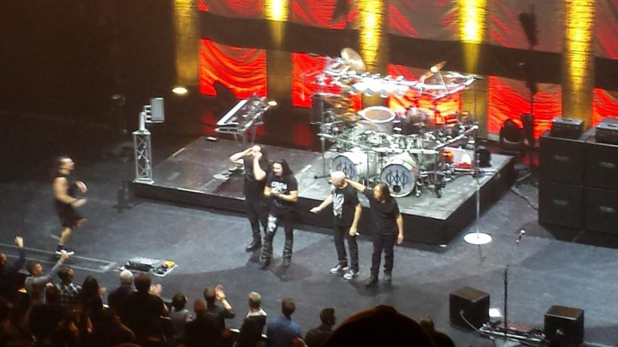 Dream Theater at the end of the show.