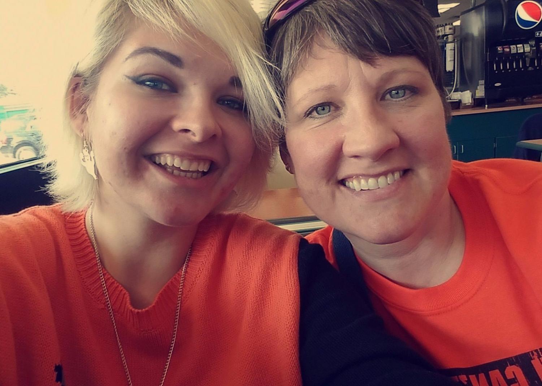 My wonderful mom and I
