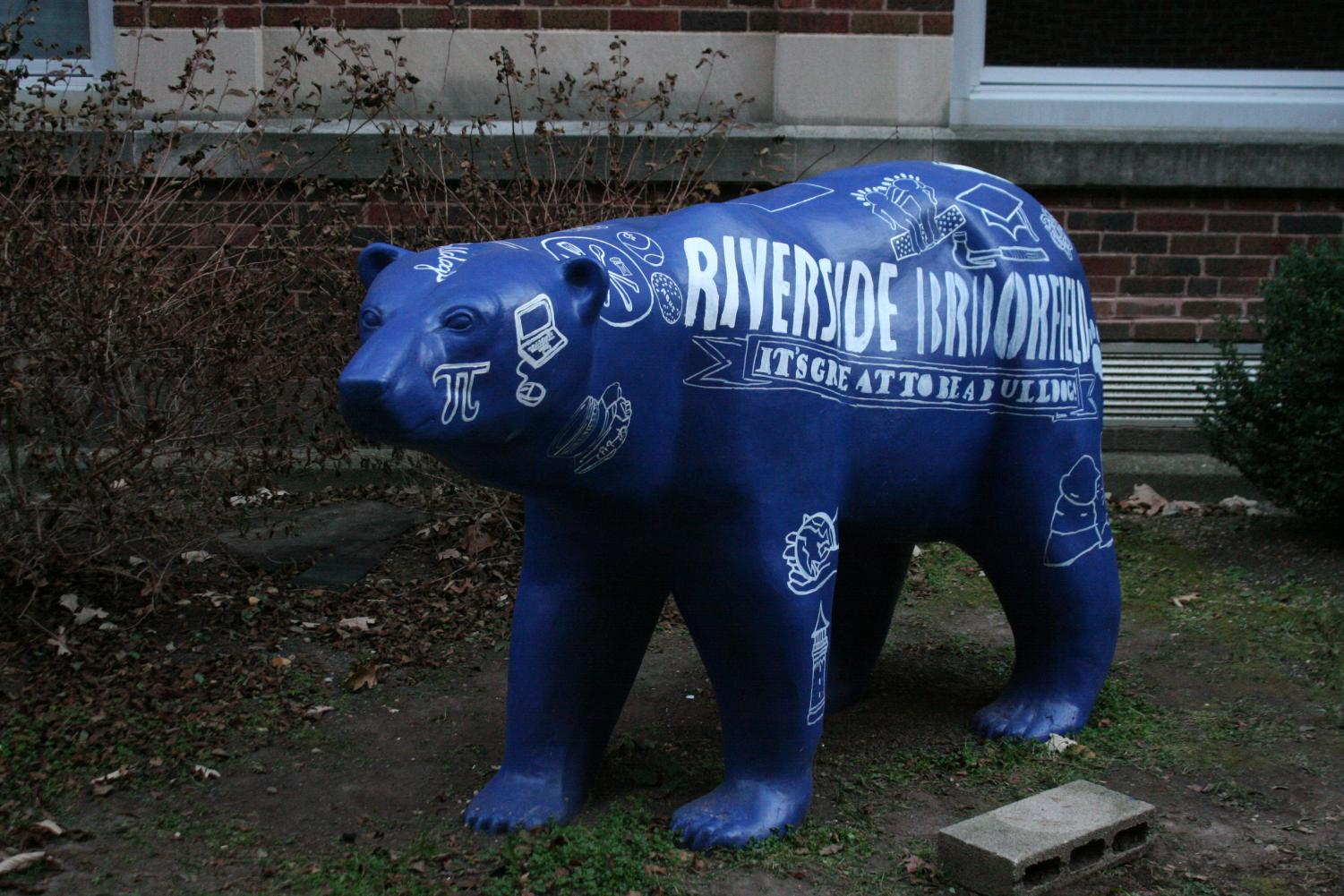 The updated version of the polar bear in the courtyard.