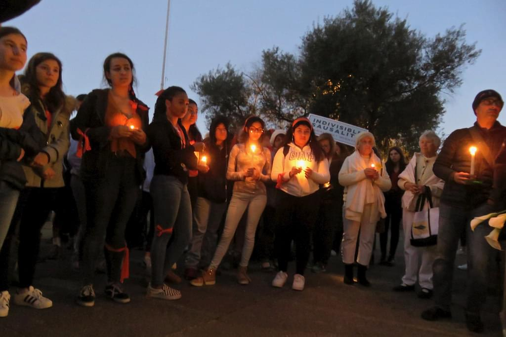 Vigil held for Parkland shooting victims