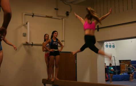 …from the balance beam