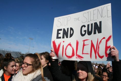 RB students stand with Marjory Stoneman Douglas High School at walk out