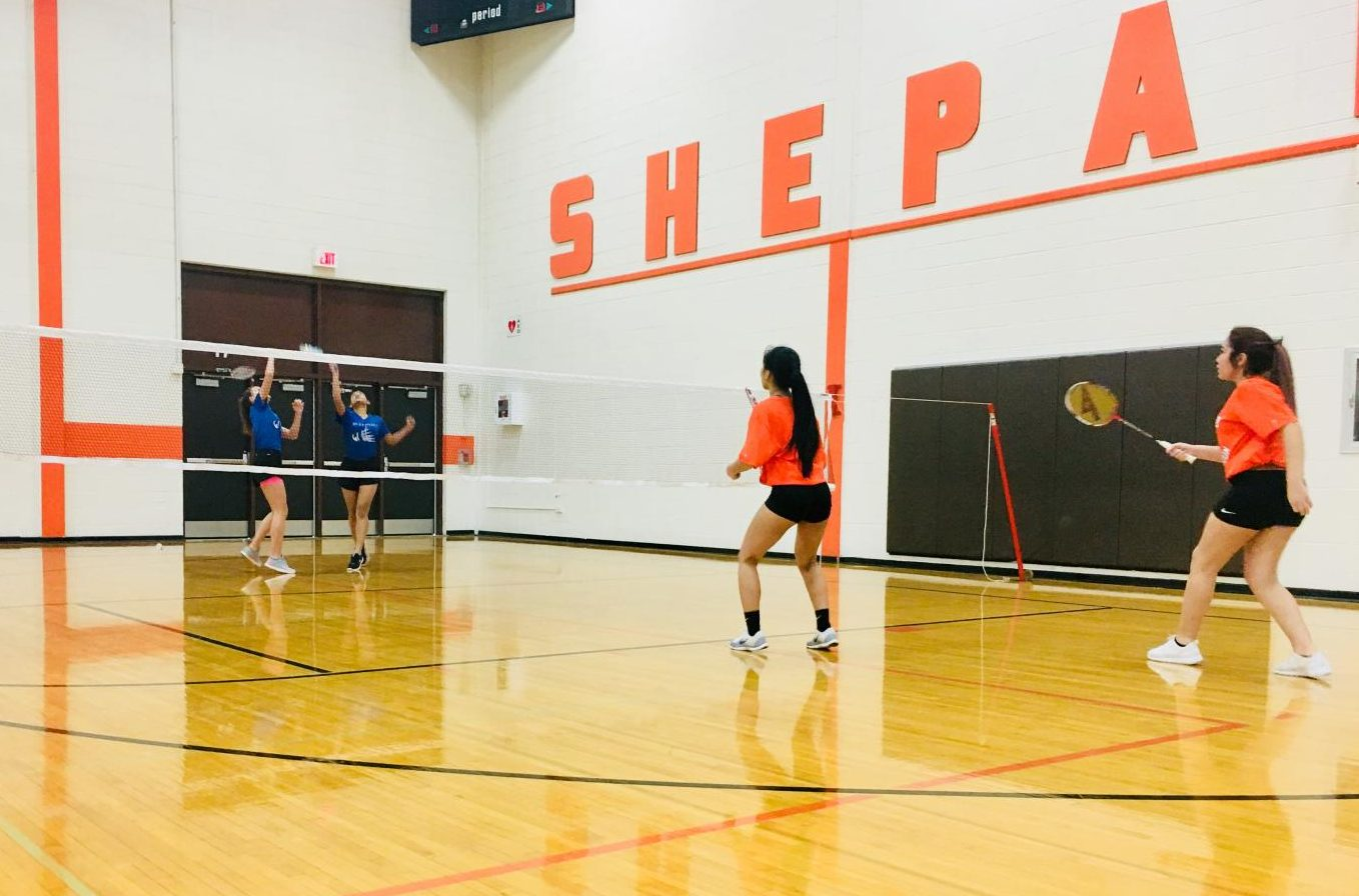 RBHS freshman badminton girls compete against Shepard High School.