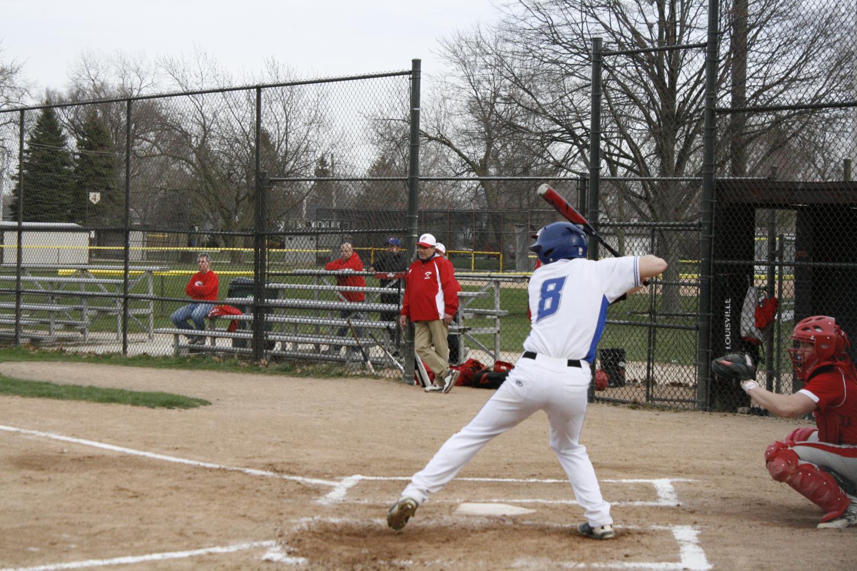 John Kosner prepares to swing.