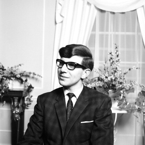 Hawking in the 60s.