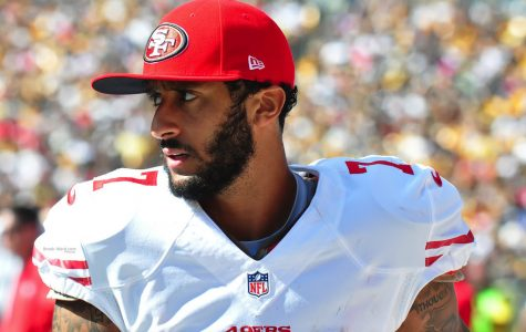 Colin Kaepernick on sidelines