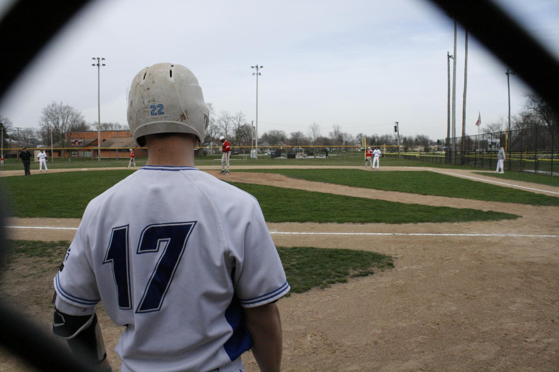 Ryan Cermak studies the pitcher
