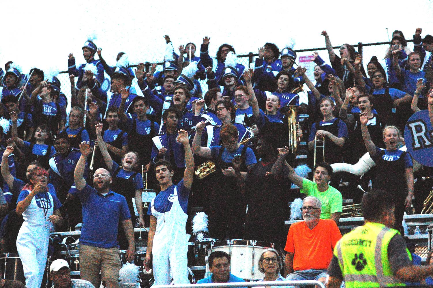 RB Band cheering in the stands