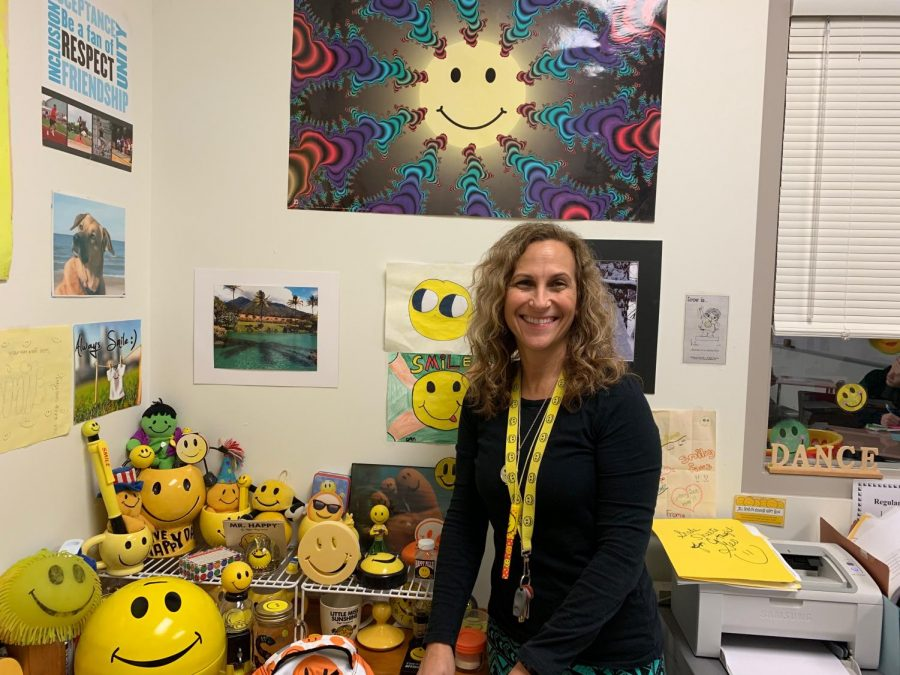 Soprych shows off her smiley face collection