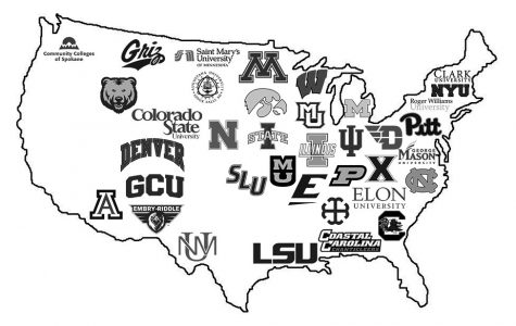 Last year's college map.