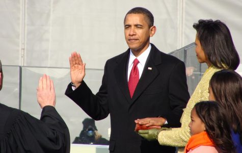 President Barack Obama is sworn in over a century-old Bible