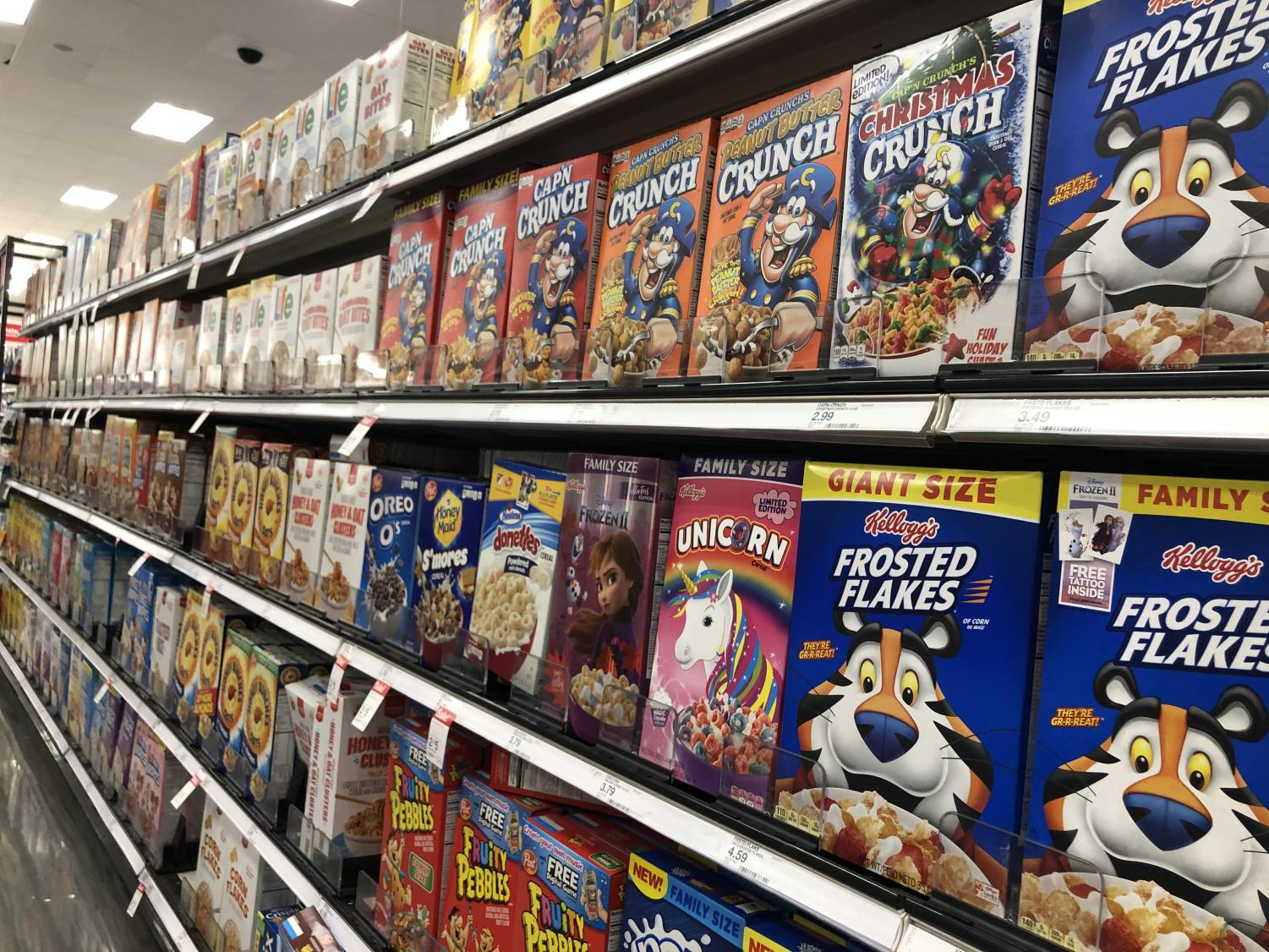 A snapshot of a local Target's wonderfully abundant cereal offerings