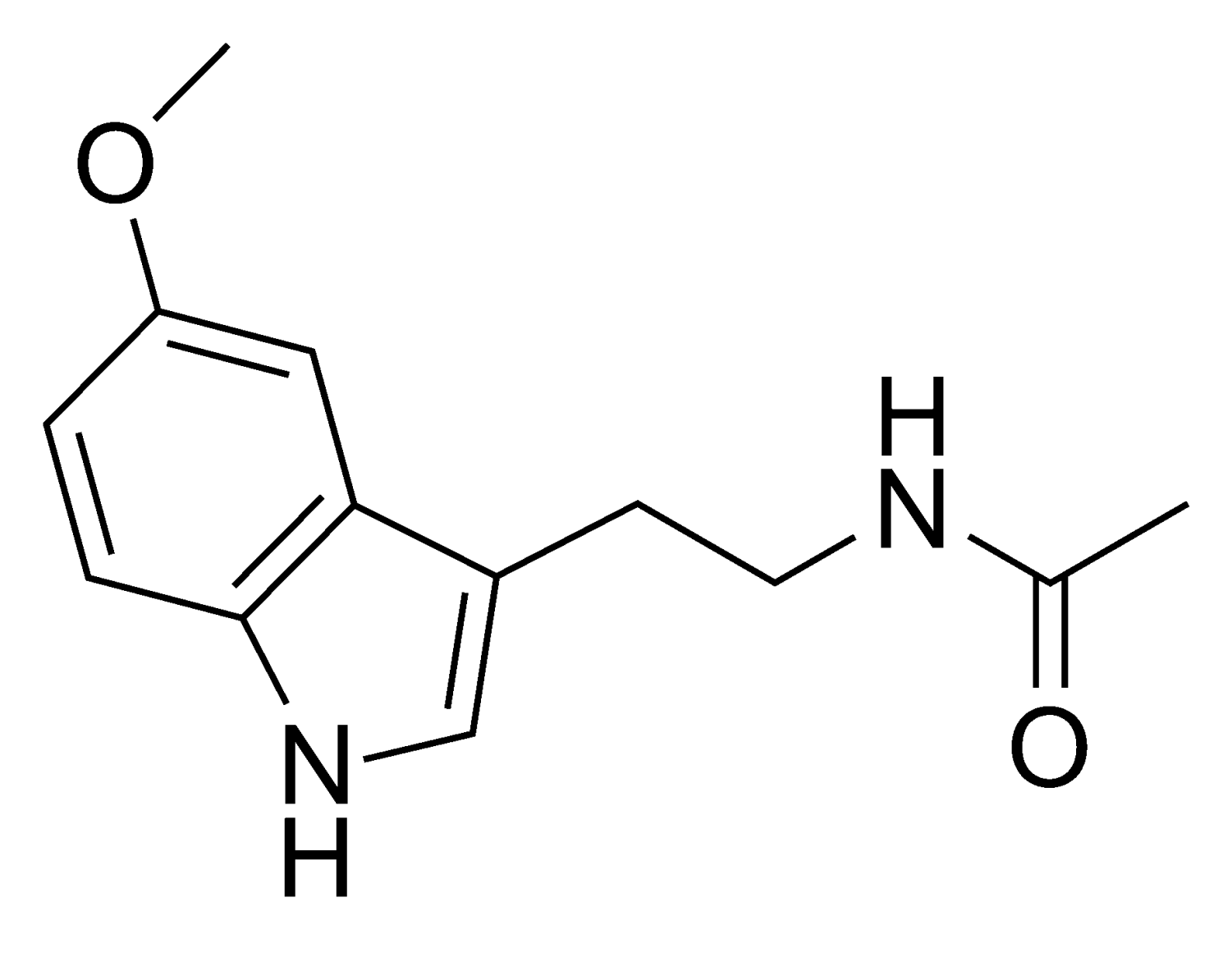 This is the structure of melatonin, the chemical released in order to make someone sleep.