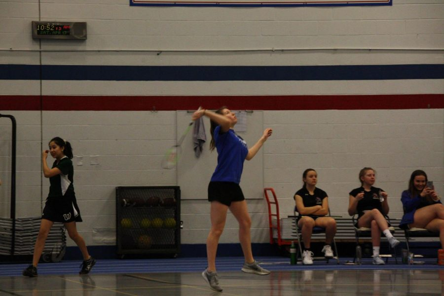 Claire Shanahan has become one of the Badminton teams most valuable players.