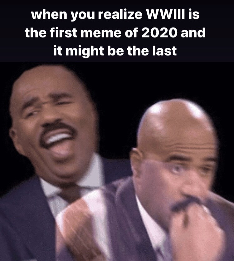 An example of a World War III meme with Steve Harvey