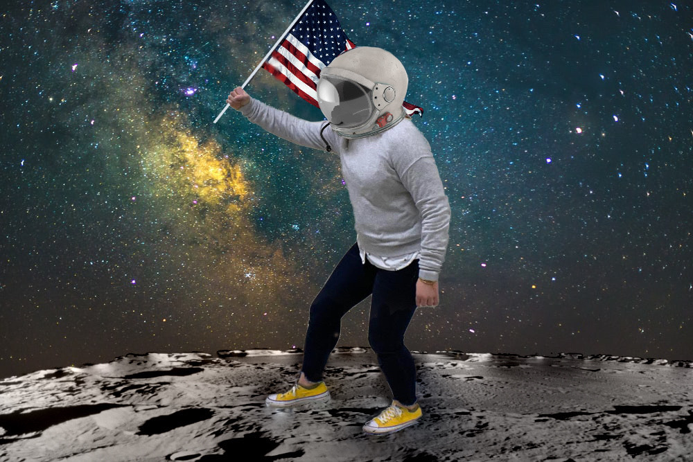 Clarion fakes the moon landing with more class and elegance than the government could ever dream of.