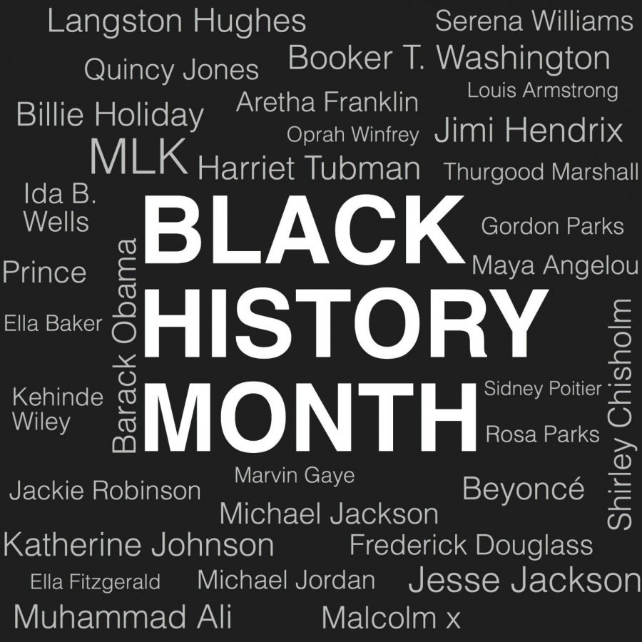 Names of prominent figures of black history. Image by Madison Heninger.