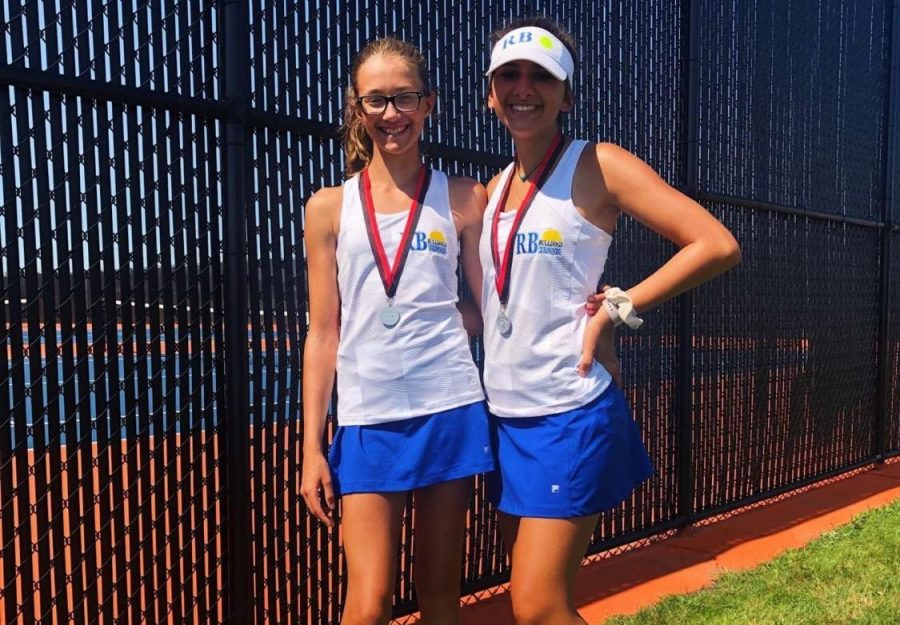 Laura Hun and her teammate Adriana Stanovich.