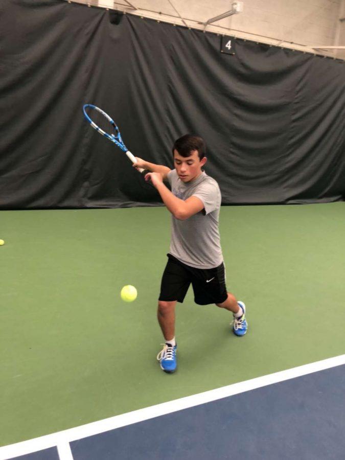 Nick+Sacharski+practicing+Tennis.