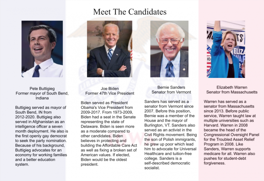 Four of the Iowa Caucus participants and their descriptions.