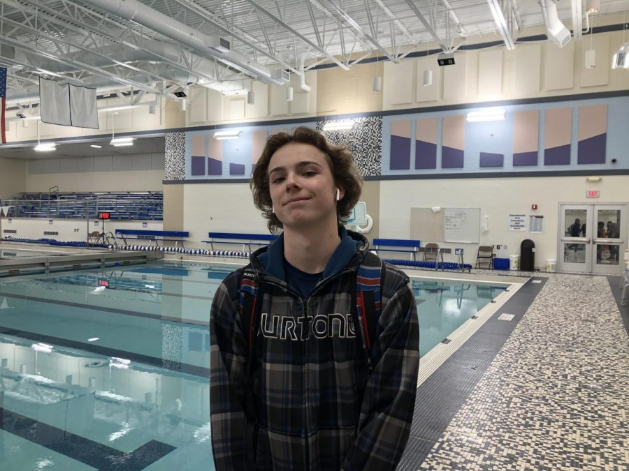 Both of Murphy Reagan's older siblings were on the swim team at RB, this helped convince him to join the team.