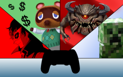 A picture showing a character from each of their respective games.