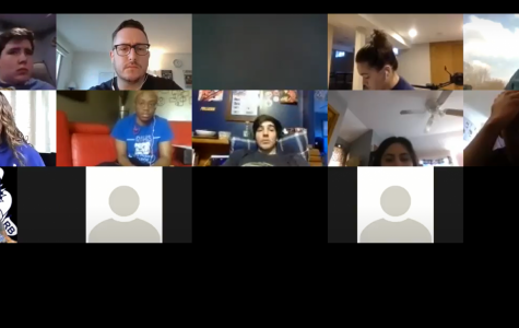 Screenshot of the Zoom meeting held between the Clarion staff and three administrators.