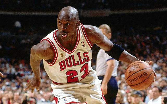 Michael Jordan driving to the basket. Photo from Flickr.