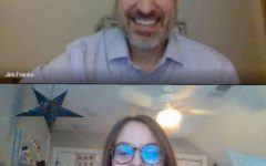 Counselor Jim Franko and club creator senior Tessa Hruska meeting over Zoom. Photo courtesy of RB's Rouser.