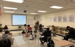 Freshmen students take part in Mr.McGoverns English class during fourth period.