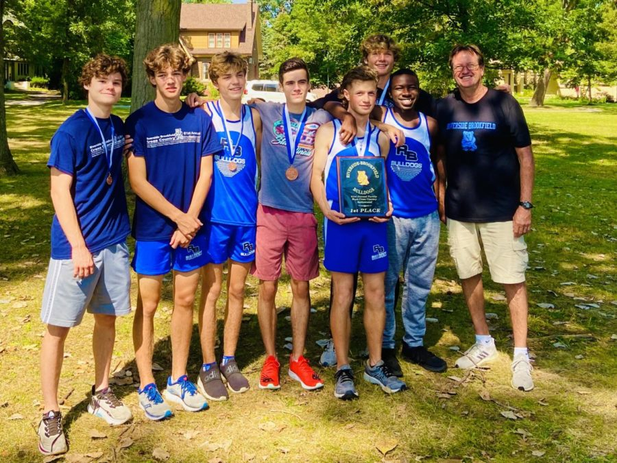 RB varsity cross country team after a race.