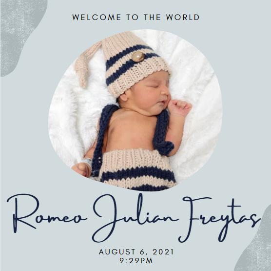 Freytas new child, Romeo Julian Freytas